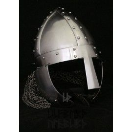 SPANGENHELM WITH CHEEK-GUARDS AND AVENTAIL (size L)