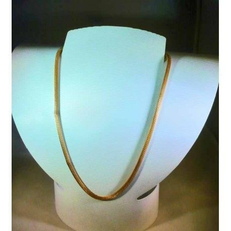 BRAIDED CHAIN GOLD PLATED