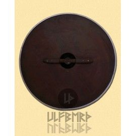 LARGE WOODEN ROUND SHIELD