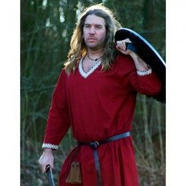 VIKING TUNIC FROM COTTON (Dark Red)