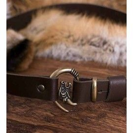 WOLF HEAD BUCKLE BELT