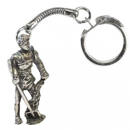 ROMAN RETIARIUS GLADIATOR KEY RING
