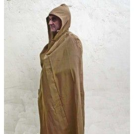 ROMAN COTTON CLOAK WITH HOOD